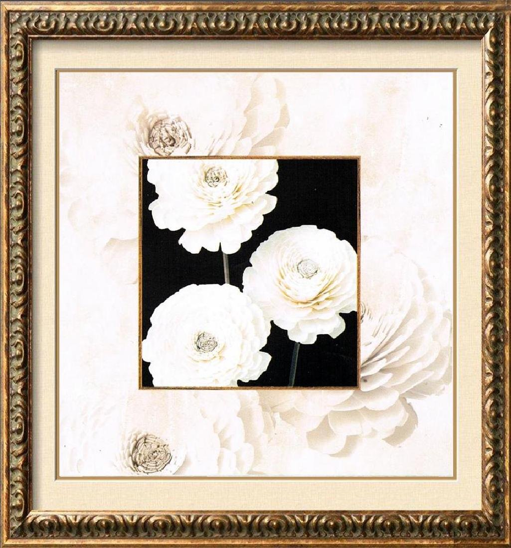 Simple Rose Black & White Canvas Giclee Huge Sale