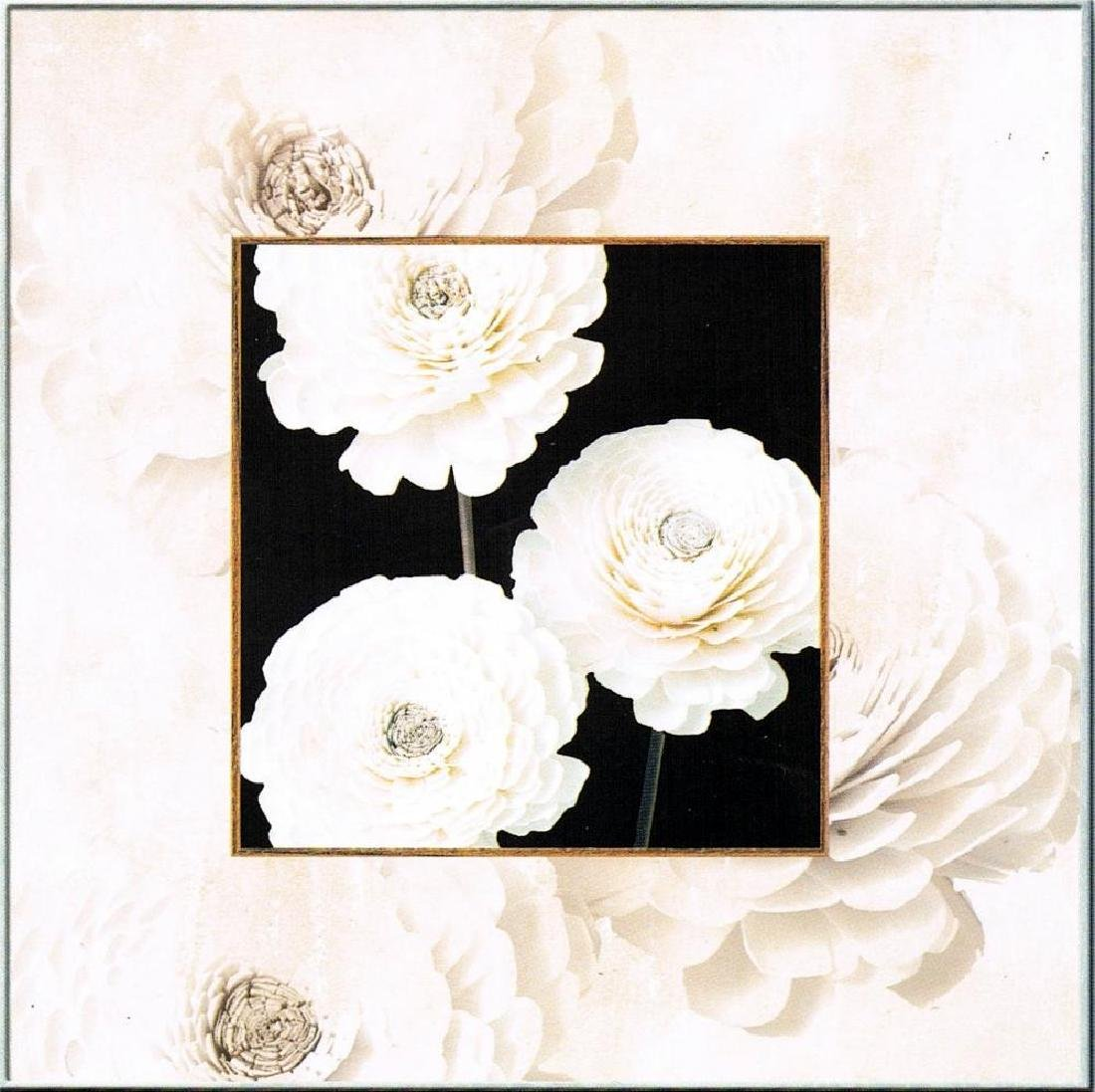 Simple Rose Black & White Canvas Giclee Huge Sale - 2