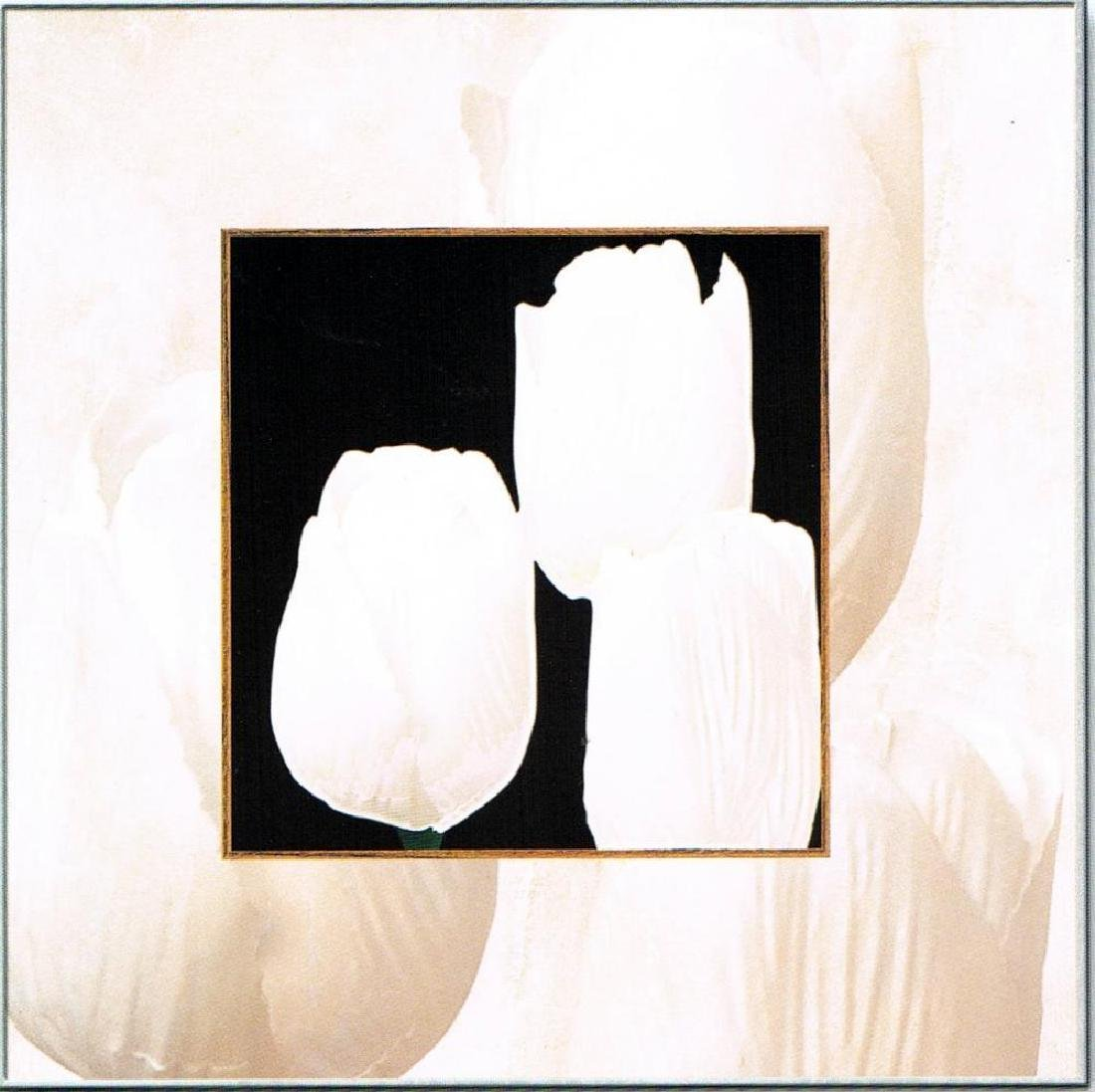 Tulips Black & White Giclee Canvas Art Liquidation - 2