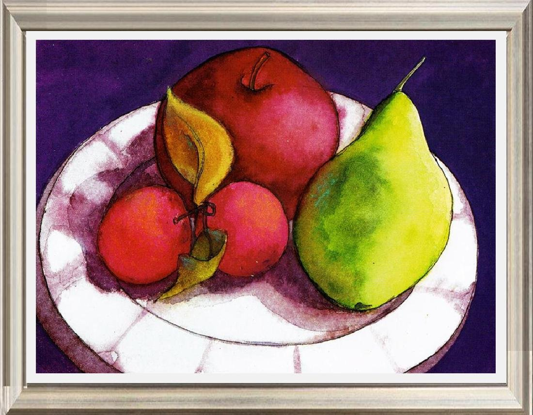 Neum Collection Fruit in Abstract Giclee on Canvas  40