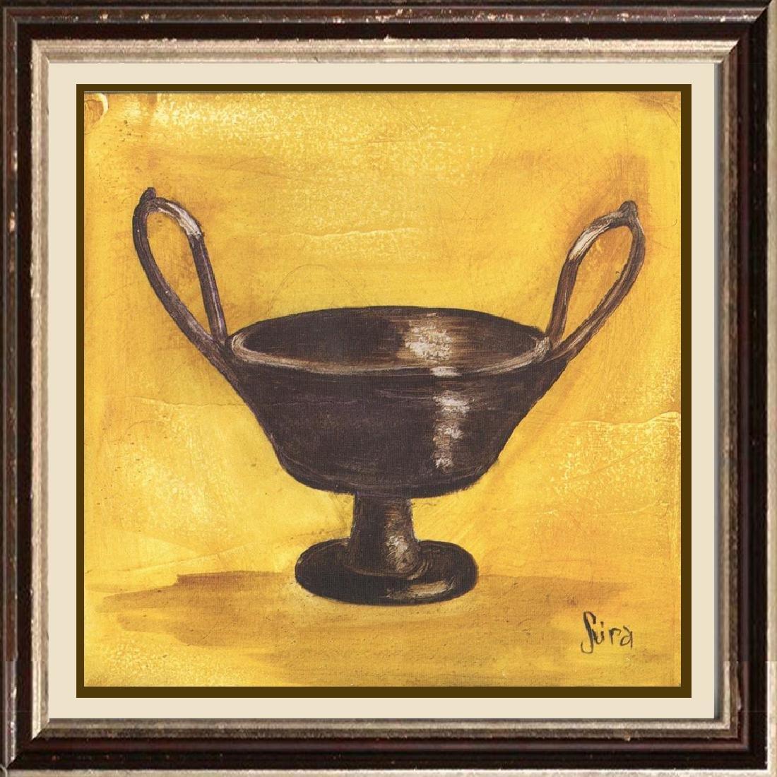 LARGE Vase on Gold Decorative Art