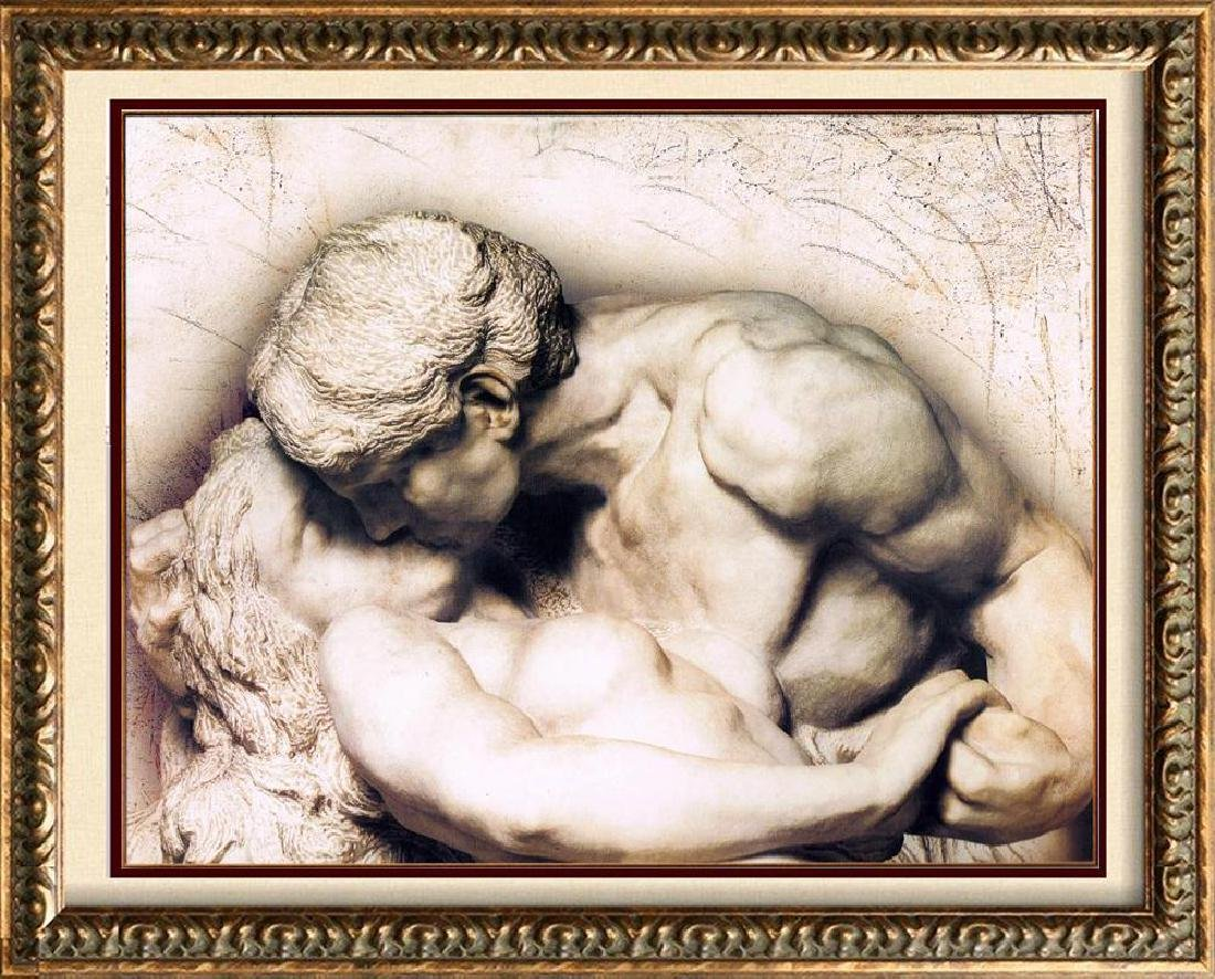 Old World Erotic Stone Sculpture Look Nude Figurative