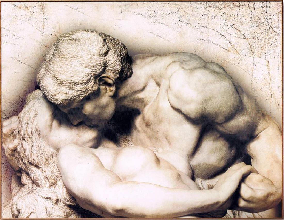 Old World Erotic Stone Sculpture Look Nude Figurative - 2