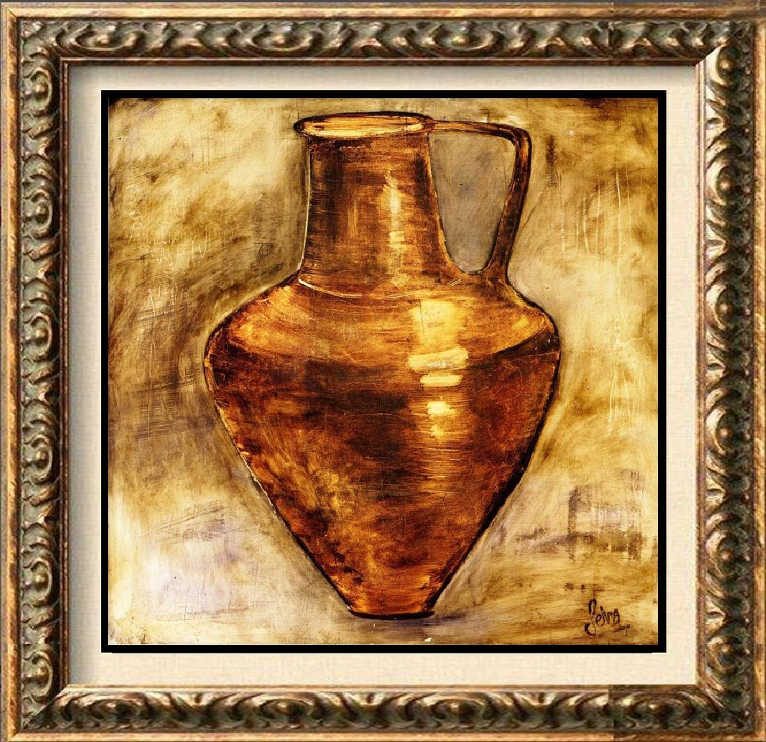 Neum Collection Vase III Plate Signed Giclee on Canvas