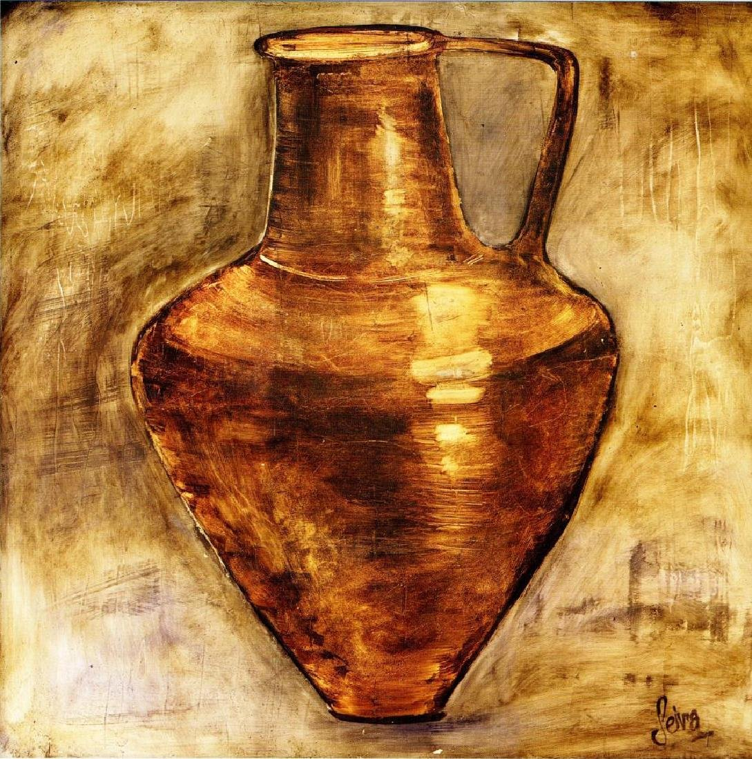 Neum Collection Vase III Plate Signed Giclee on Canvas - 2
