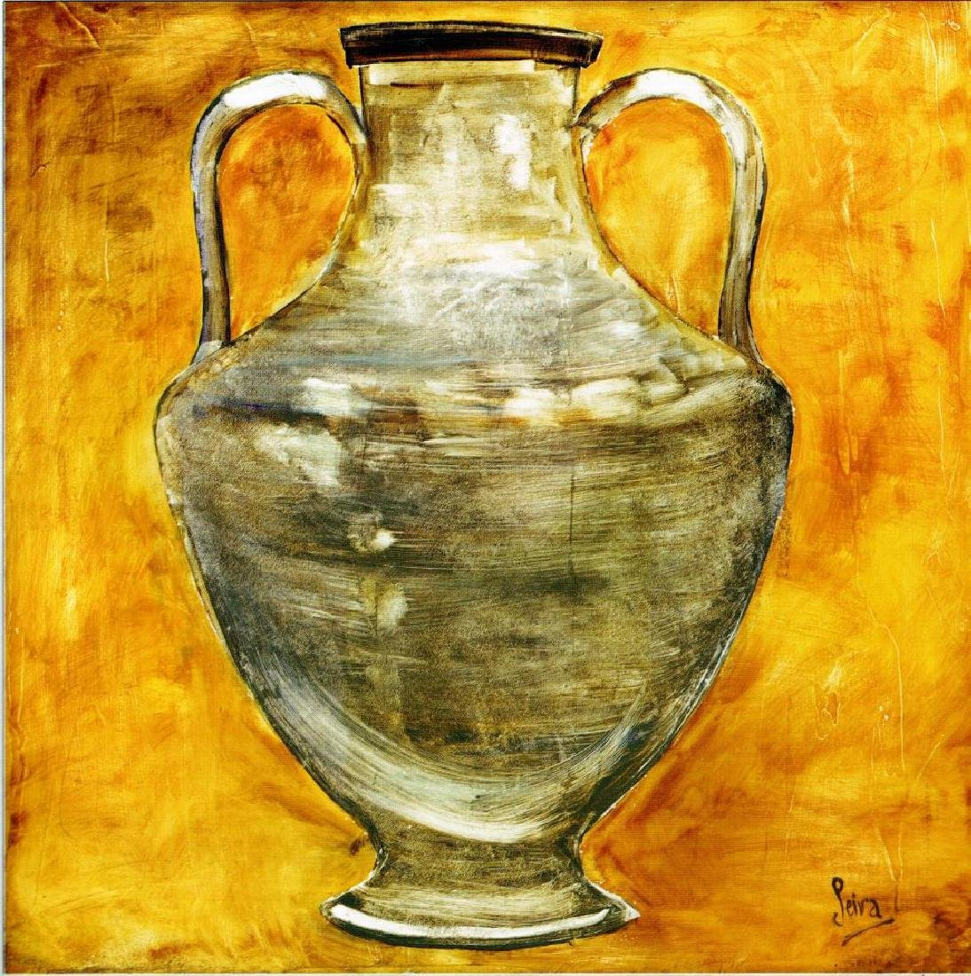 Neum Collection Vase IV Plate Signed Giclee on Canvas - 2