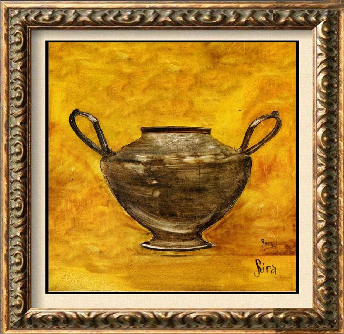 51X51 CANVAS SILVER JAR GICLEE ONLY $200