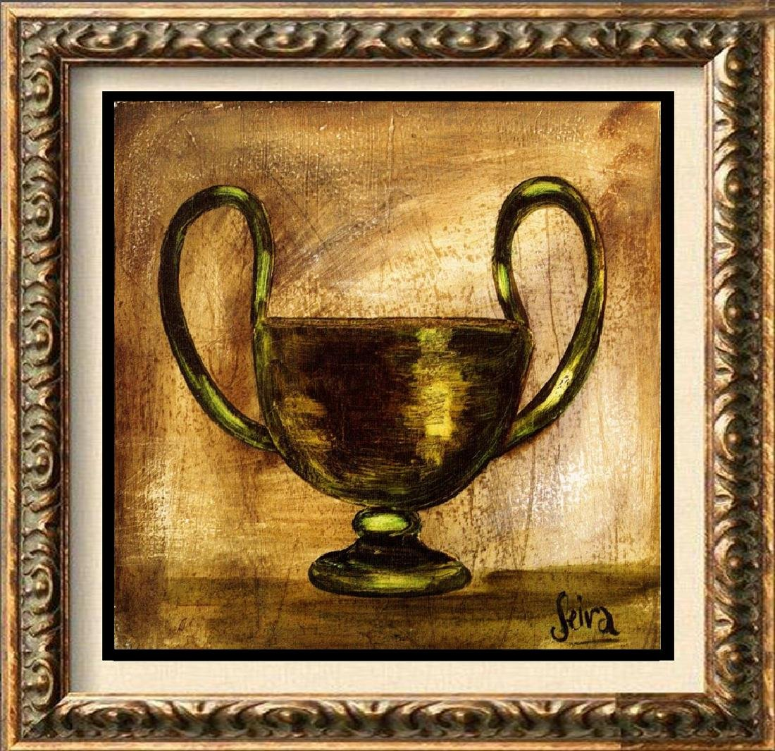 Neum Collection Vase VI Plate Signed Giclee on Canvas
