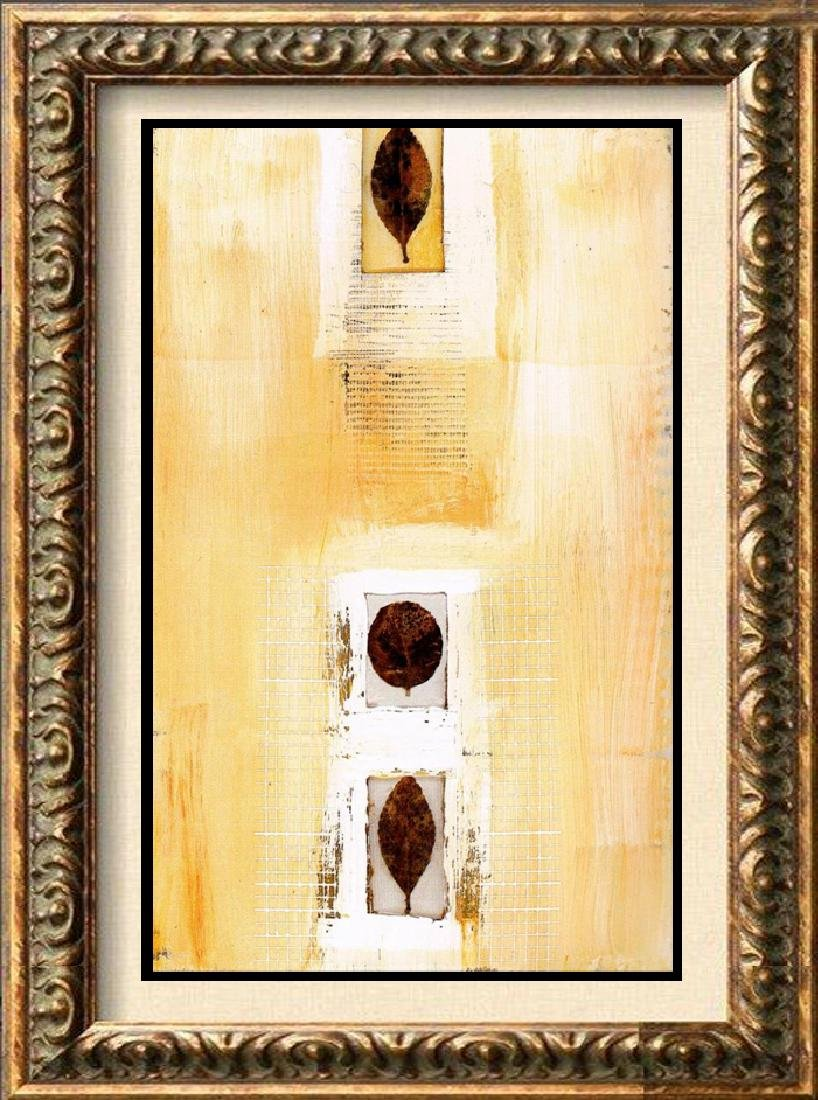 Neum Collection Leaves Abstract Yellow Giclee on Canvas