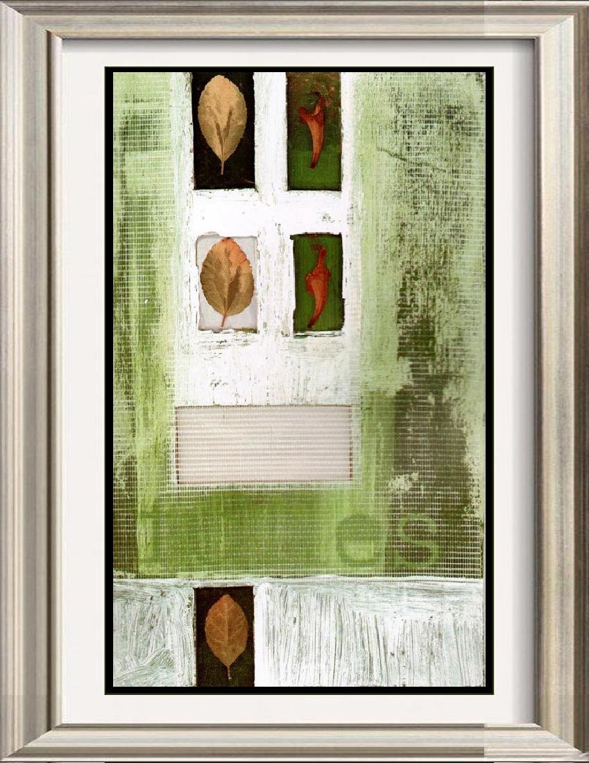 Neum Collection Leaves Abstract Green Giclee on Canvas