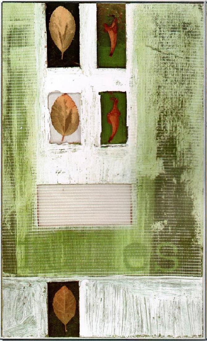 Neum Collection Leaves Abstract Green Giclee on Canvas - 2