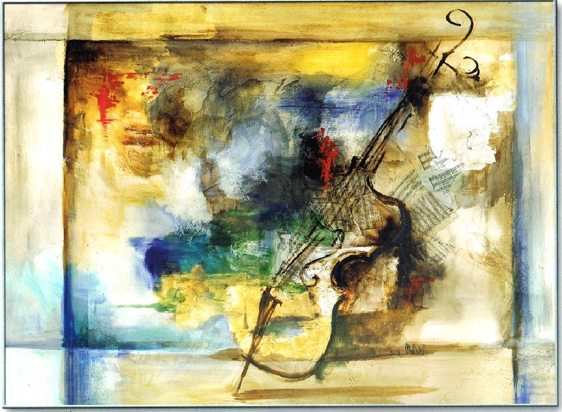 LARGE 51x74 Canvas Giclee Violin Abstract Modern Art - 2