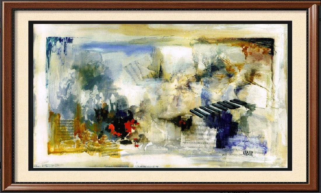 LARGE 43x70 Canvas Giclee Violin Abstract Modern Art