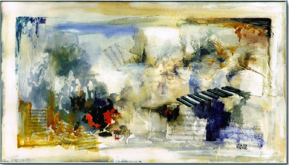 LARGE 43x70 Canvas Giclee Violin Abstract Modern Art - 2