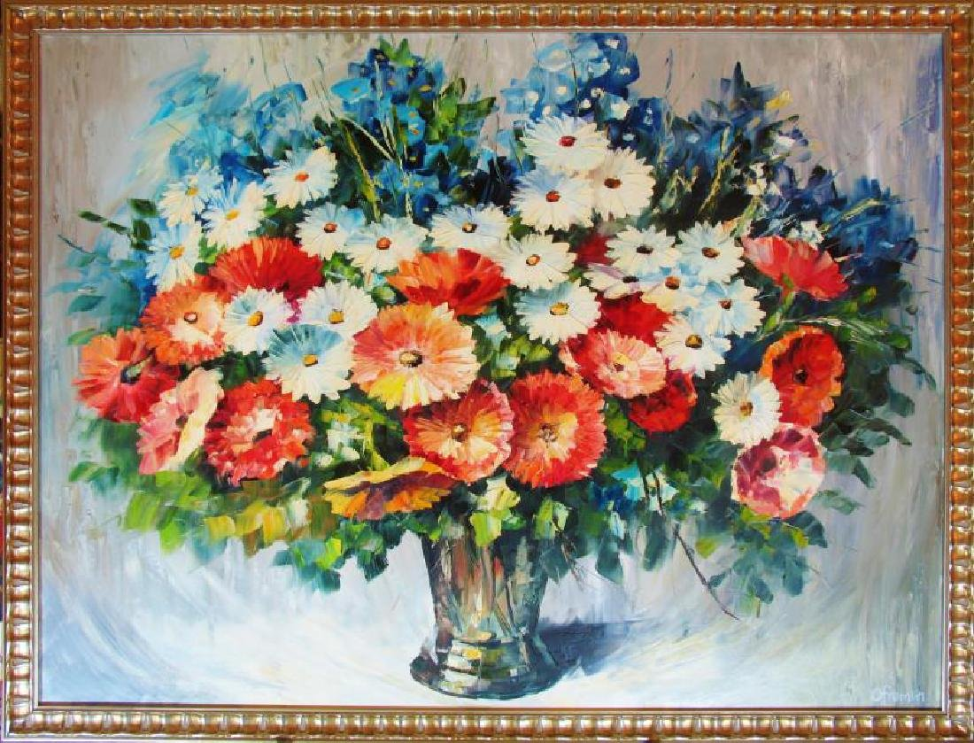 Colorful Textured Palette Knife Painting Canvas Sale