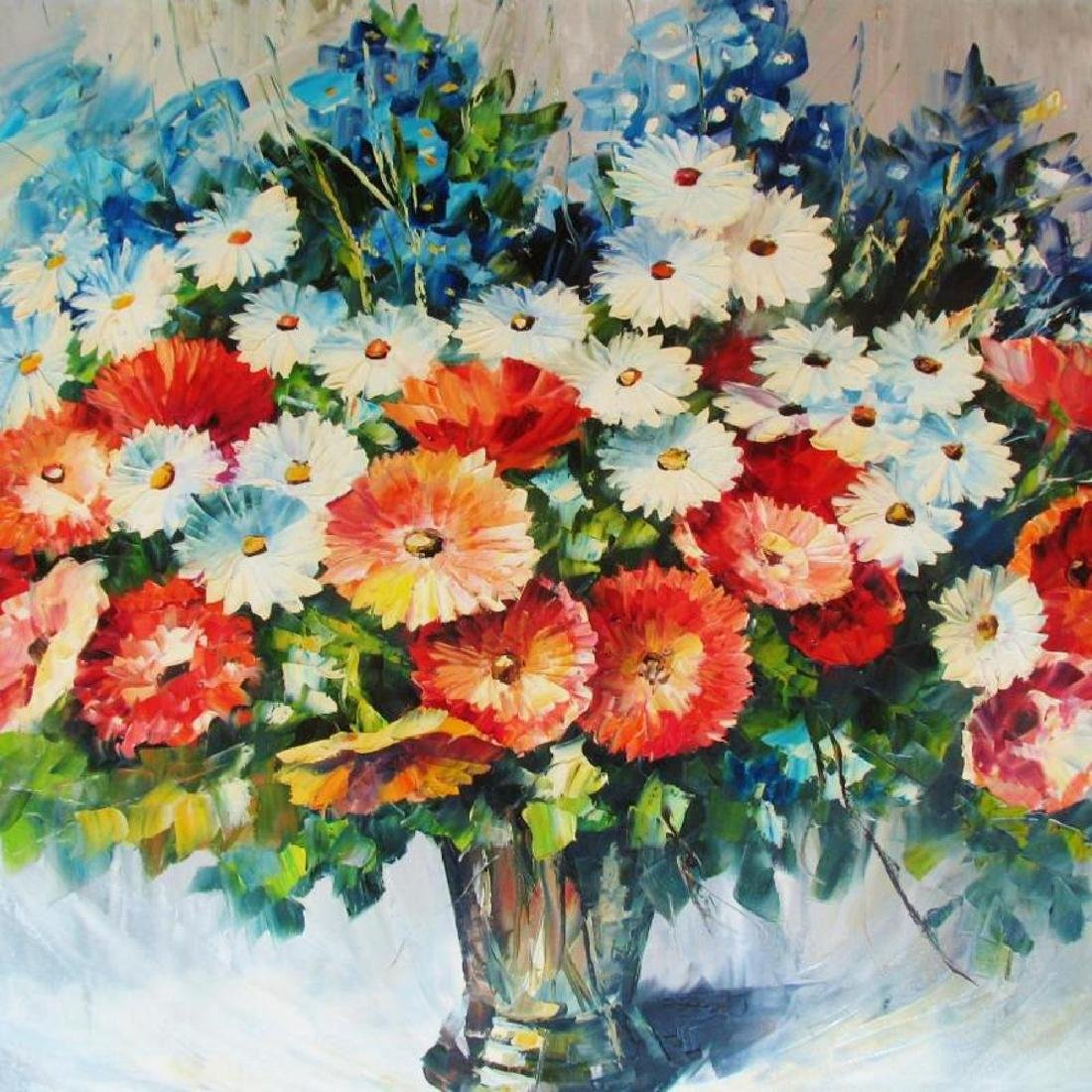 Colorful Textured Palette Knife Painting Canvas Sale - 3