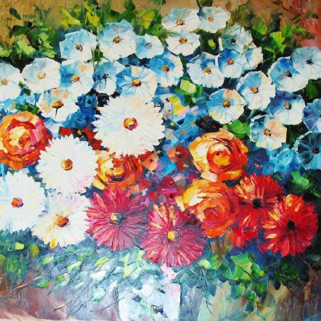 Bloom Original Canvas Signed Textured Rich Colors - 3