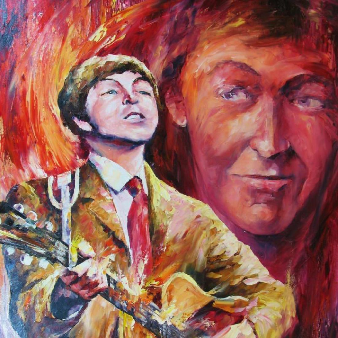 Paul Mccartney Abstract Palette Knife Original Canvas - 3