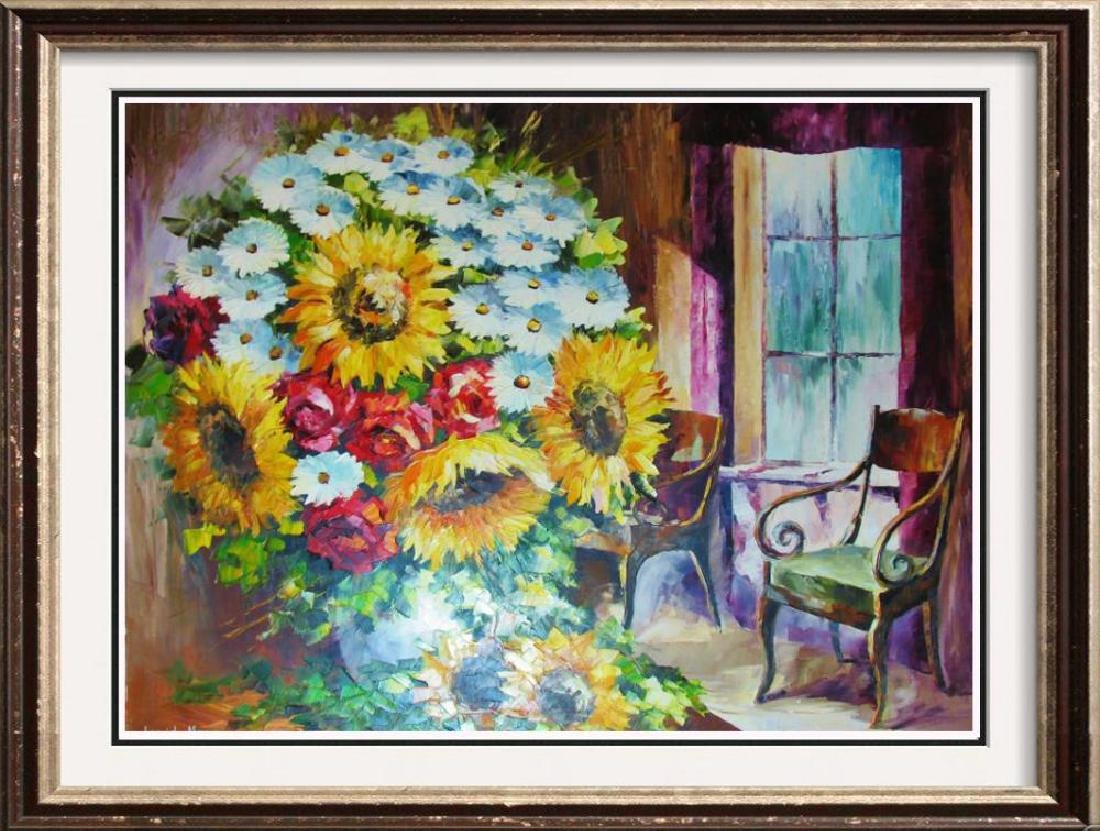 Floral Bouquet Textured Original Canvas Ready To Hang