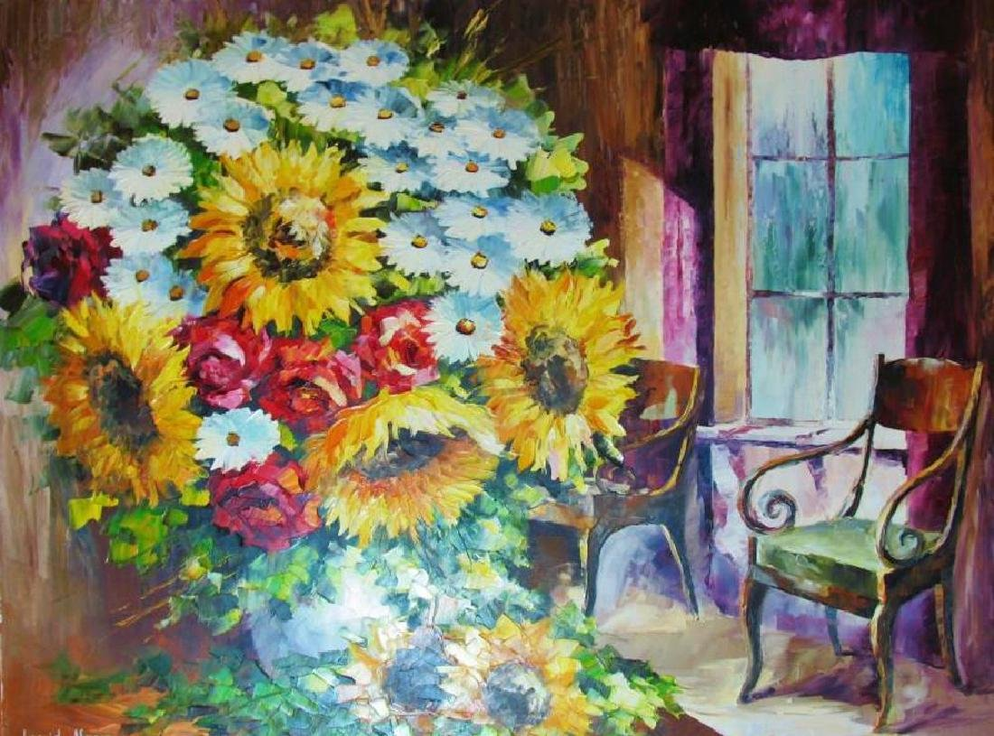 Floral Bouquet Textured Original Canvas Ready To Hang - 2