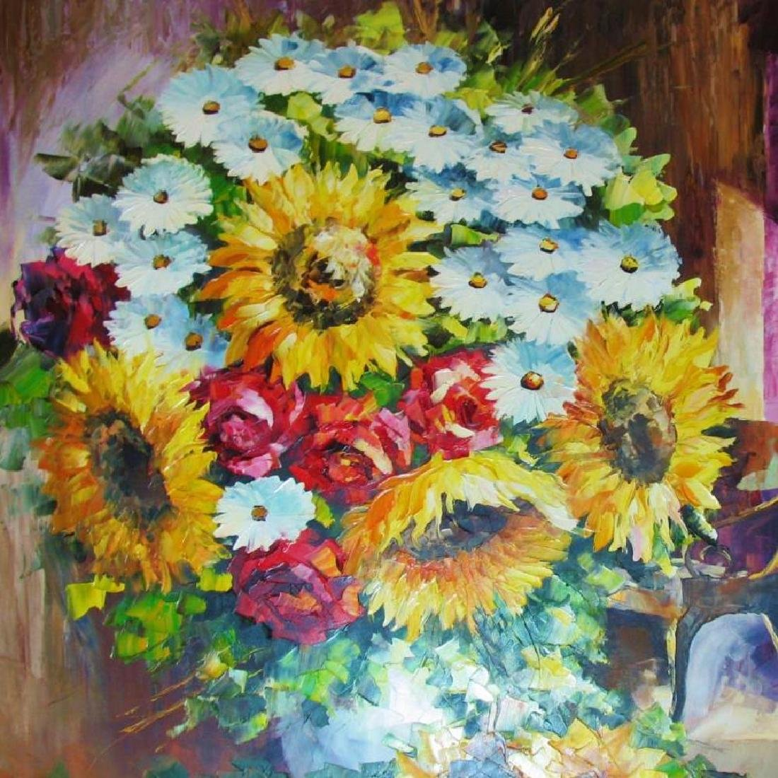 Floral Bouquet Textured Original Canvas Ready To Hang - 3