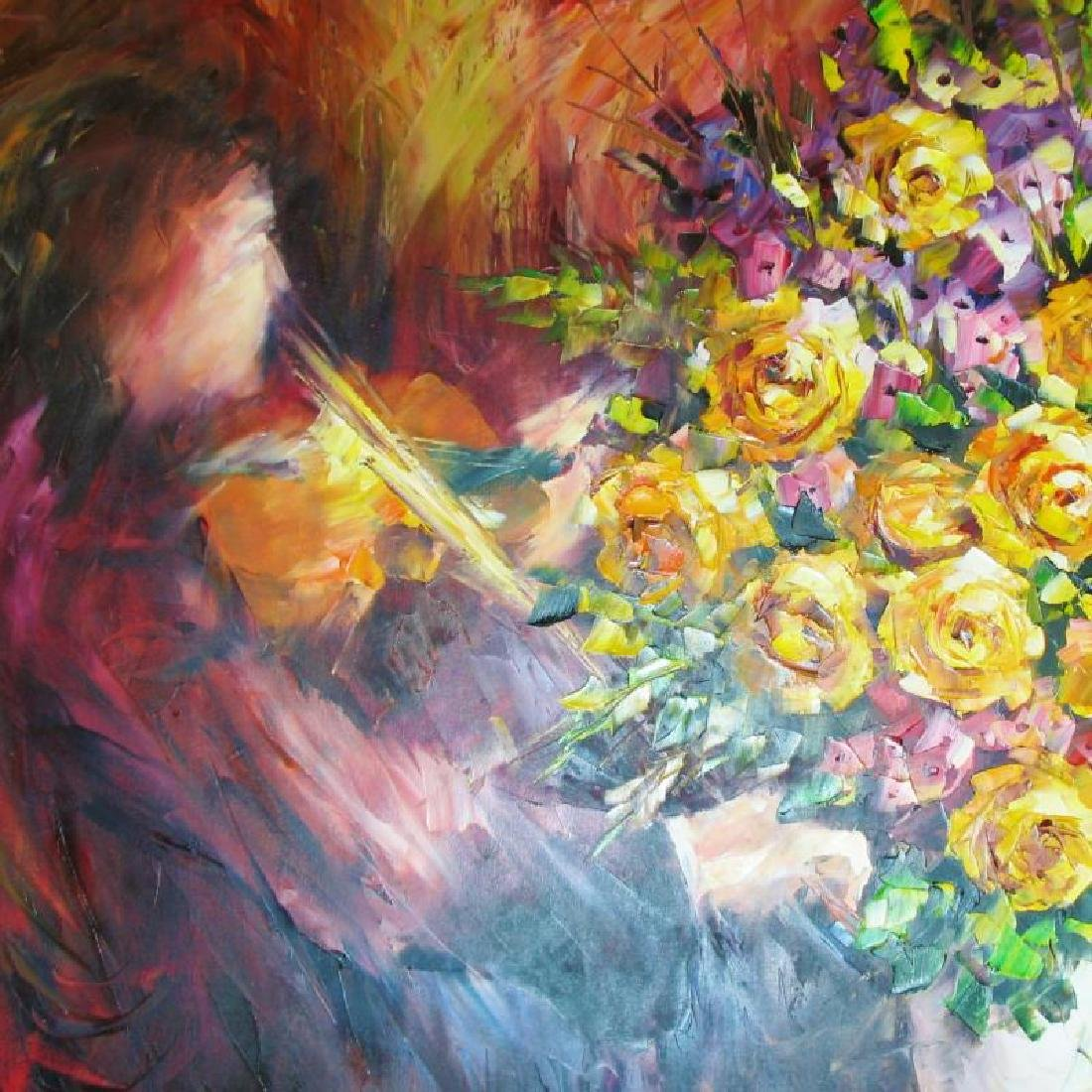 Painting On Canvas Musical Theme Abstract Textured Sale - 3