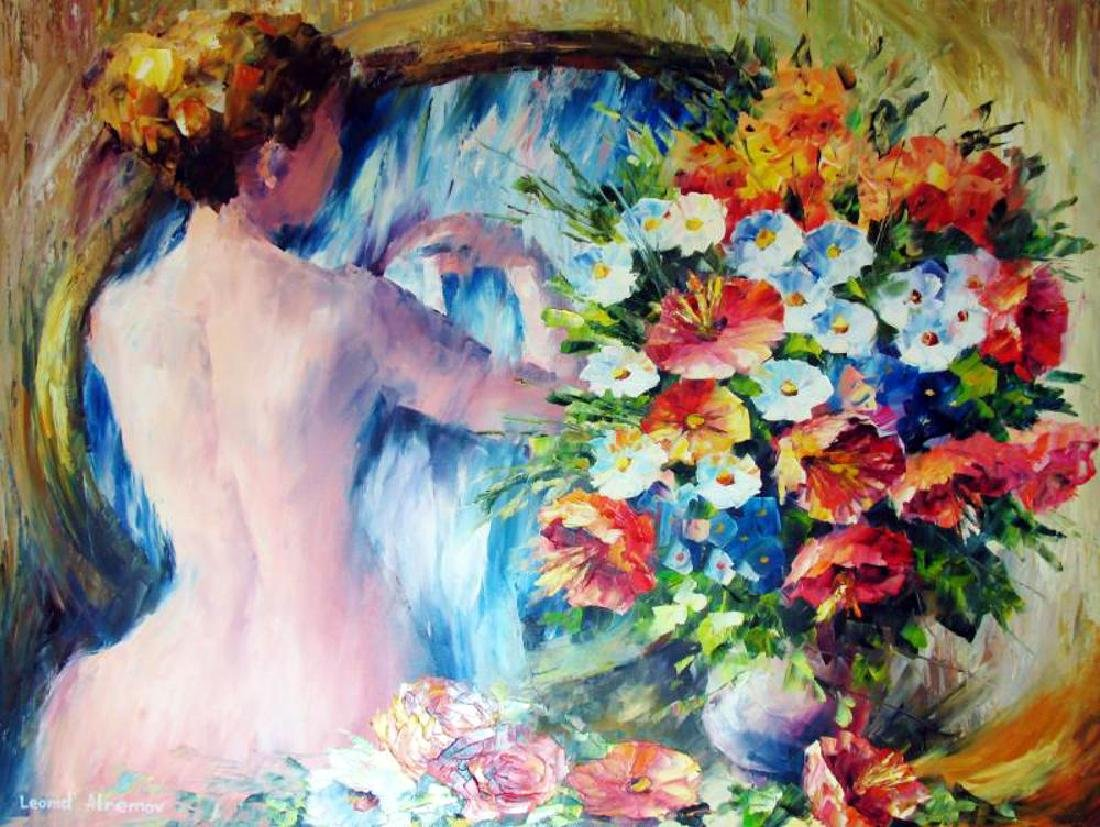 Beautiful Palette Knife Original Signed Painting on - 2