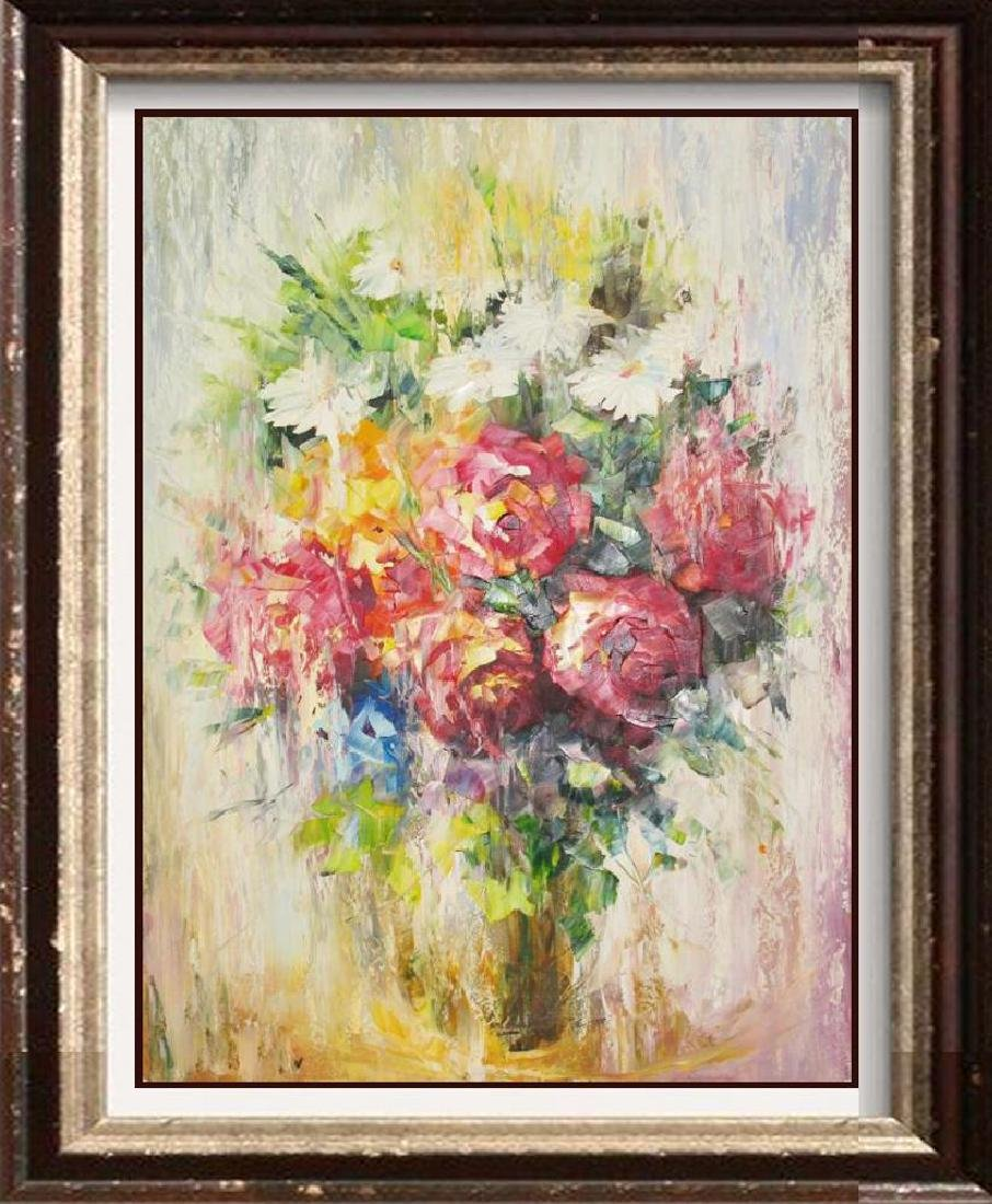 Impressionism Floral Textures Pastel Beautiful Painting