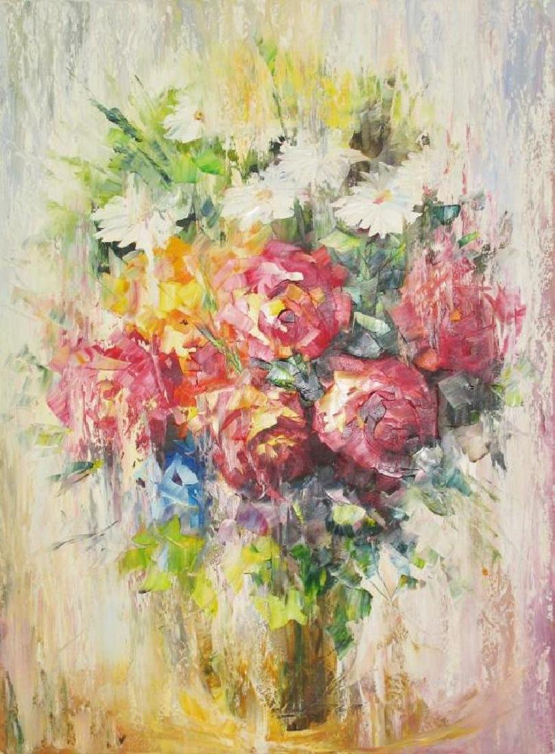 Impressionism Floral Textures Pastel Beautiful Painting - 2