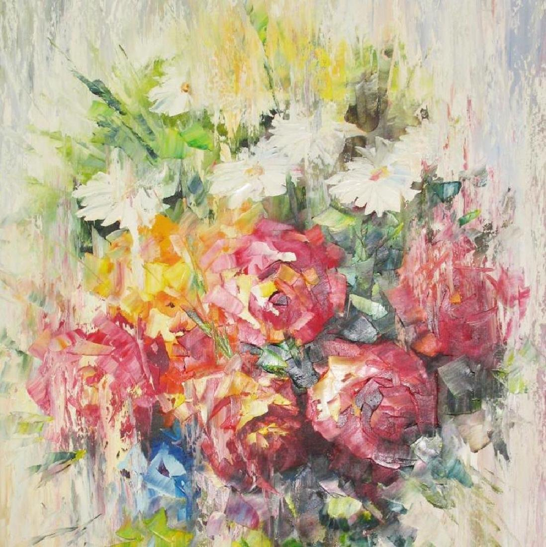 Impressionism Floral Textures Pastel Beautiful Painting - 3