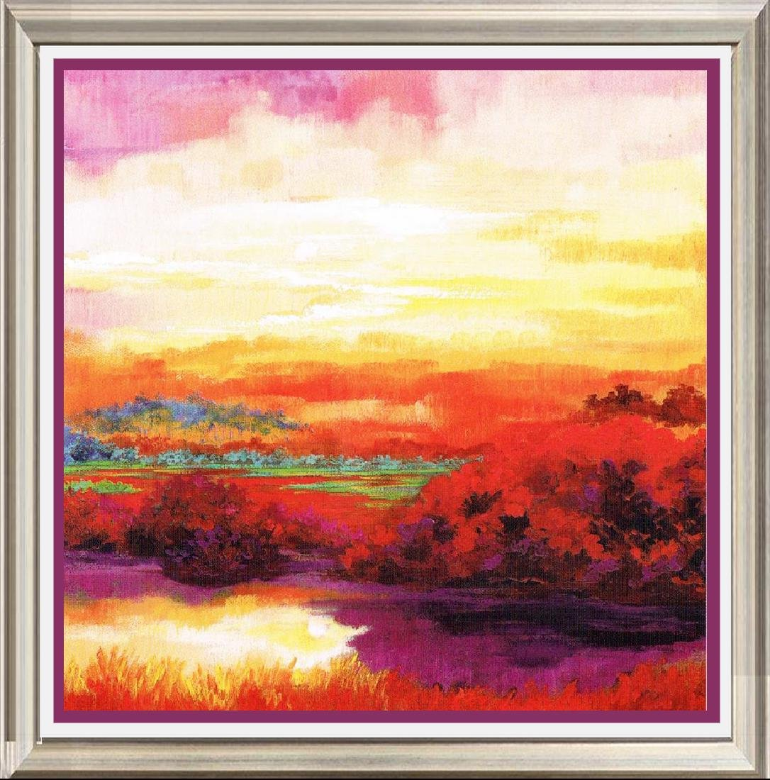 Neum Collection Landscape Paisaje Azul Rojo I Giclee on