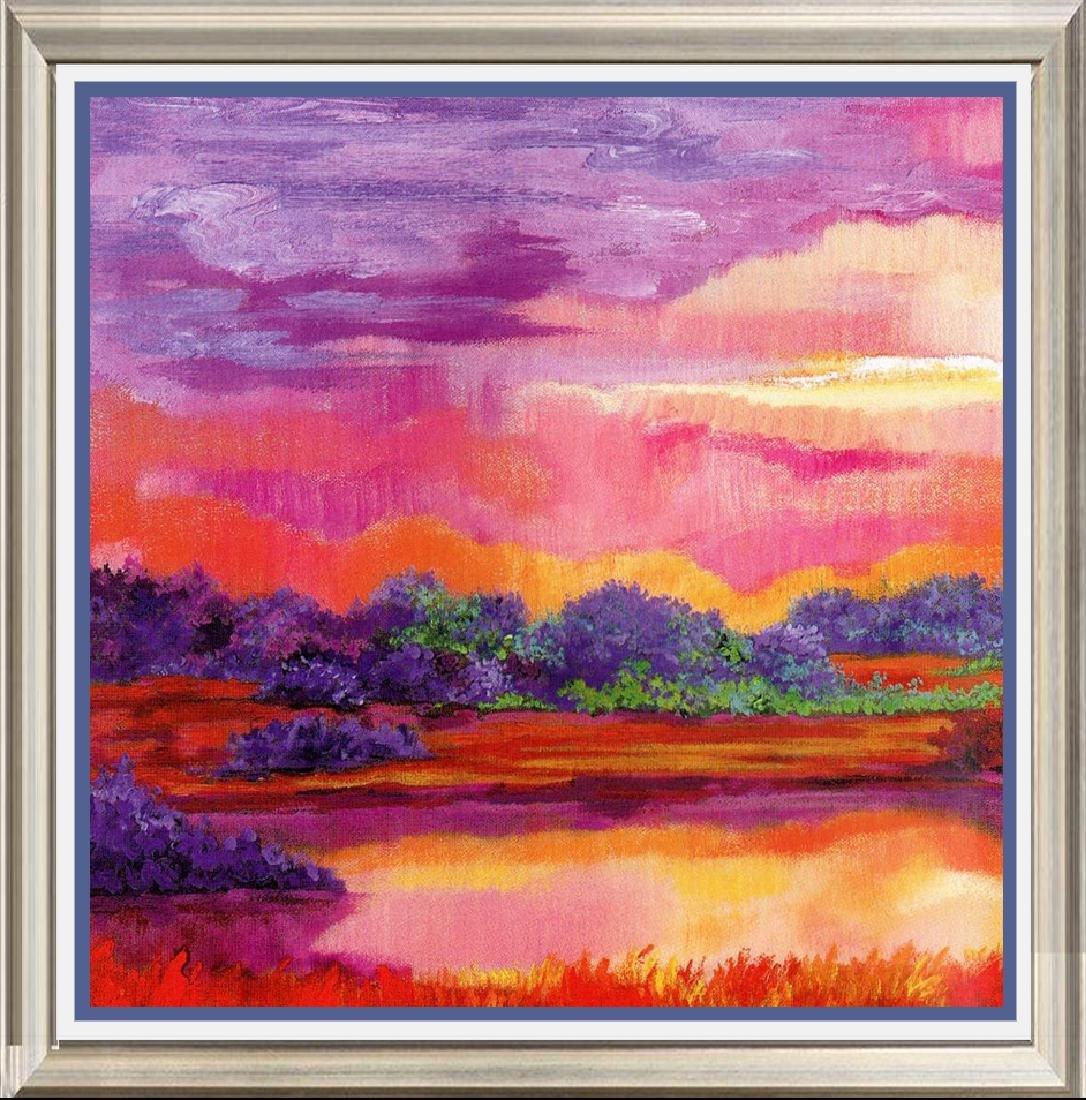 Neum Collection Landscape Paisaje Azul Rojo II Giclee
