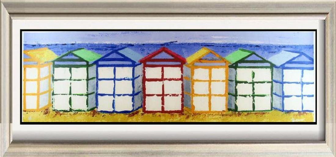 Beach Art Giclee Canvas Colorful 14x43 Great Art Sale