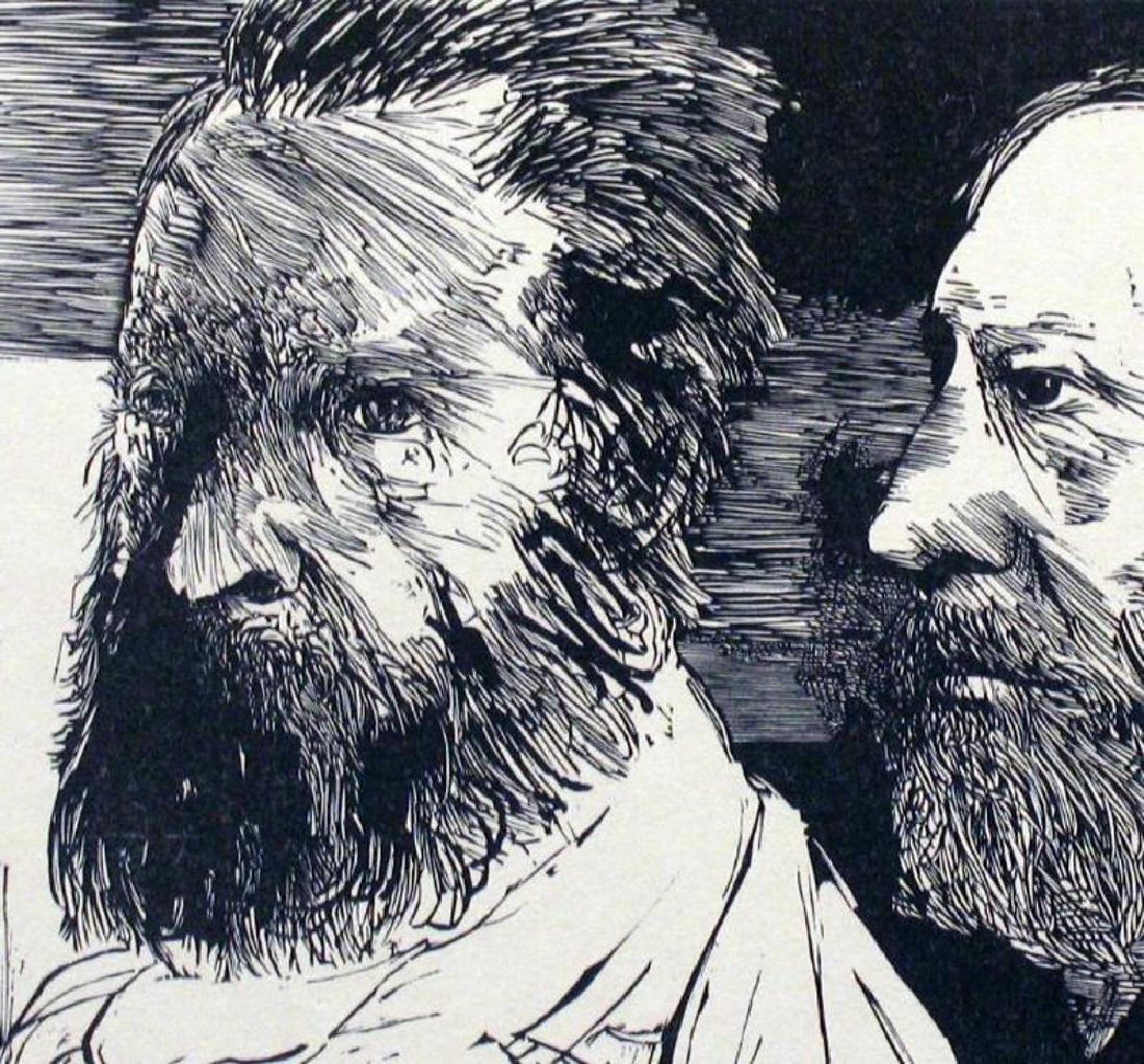 Museum Artist Leonard Baskin Limited Edition Woodblock - 3