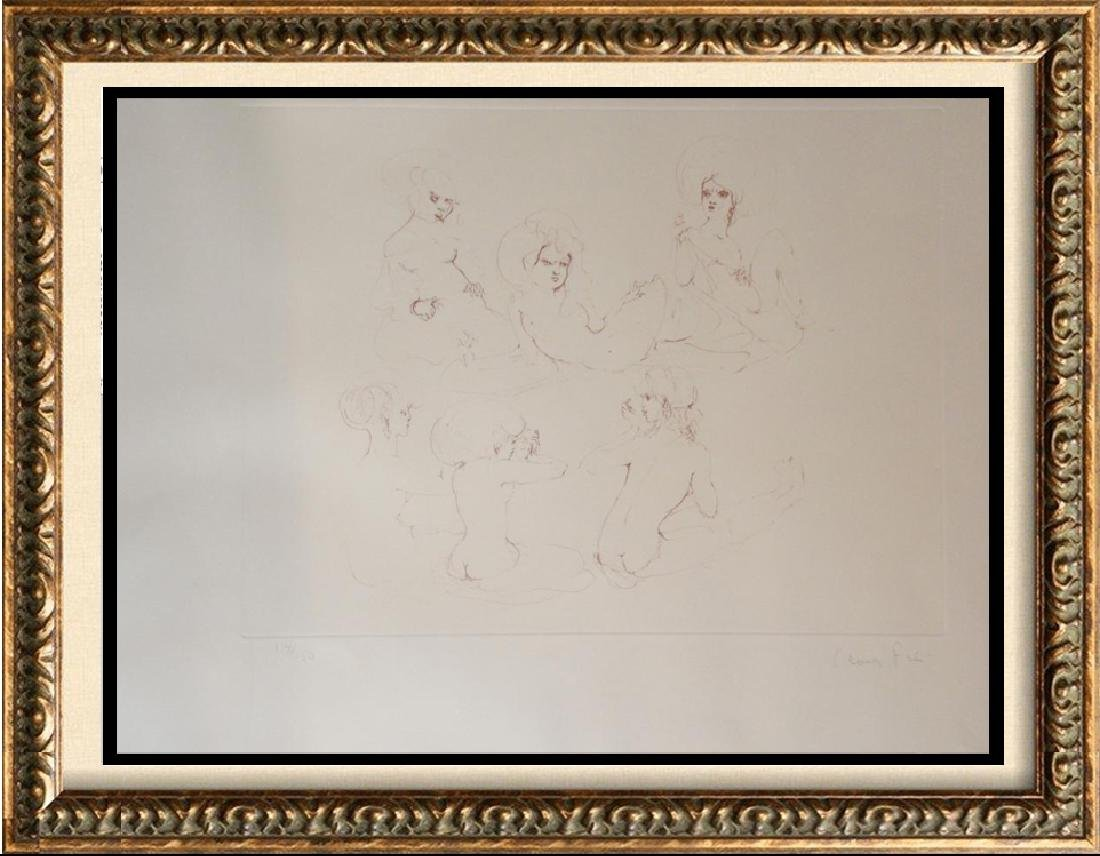 Leonor Fini Rare 1980 Images of Nude Etching Hand