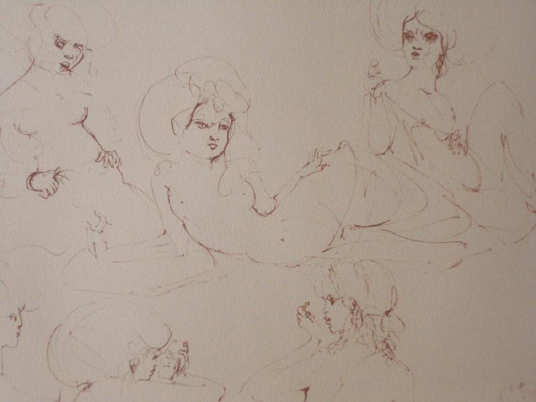 Leonor Fini Rare 1980 Images of Nude Etching Hand - 4