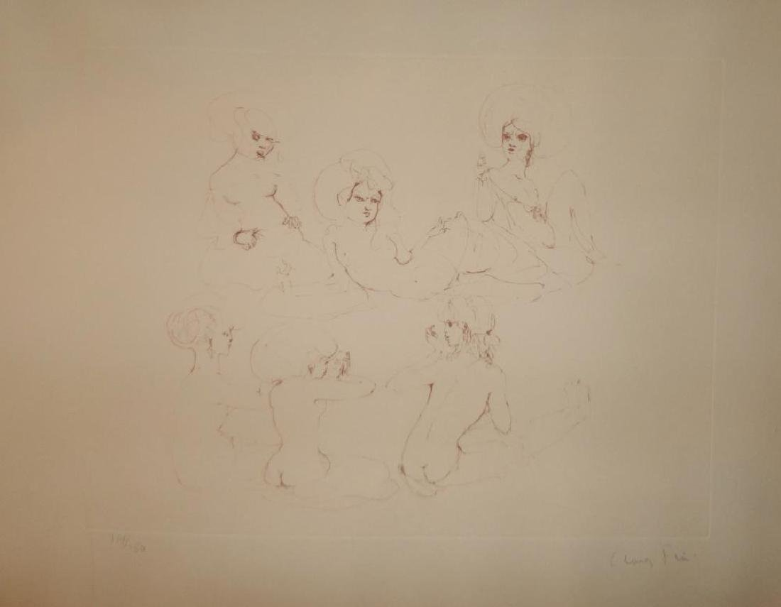 Leonor Fini Rare 1980 Images of Nude Etching Hand - 5