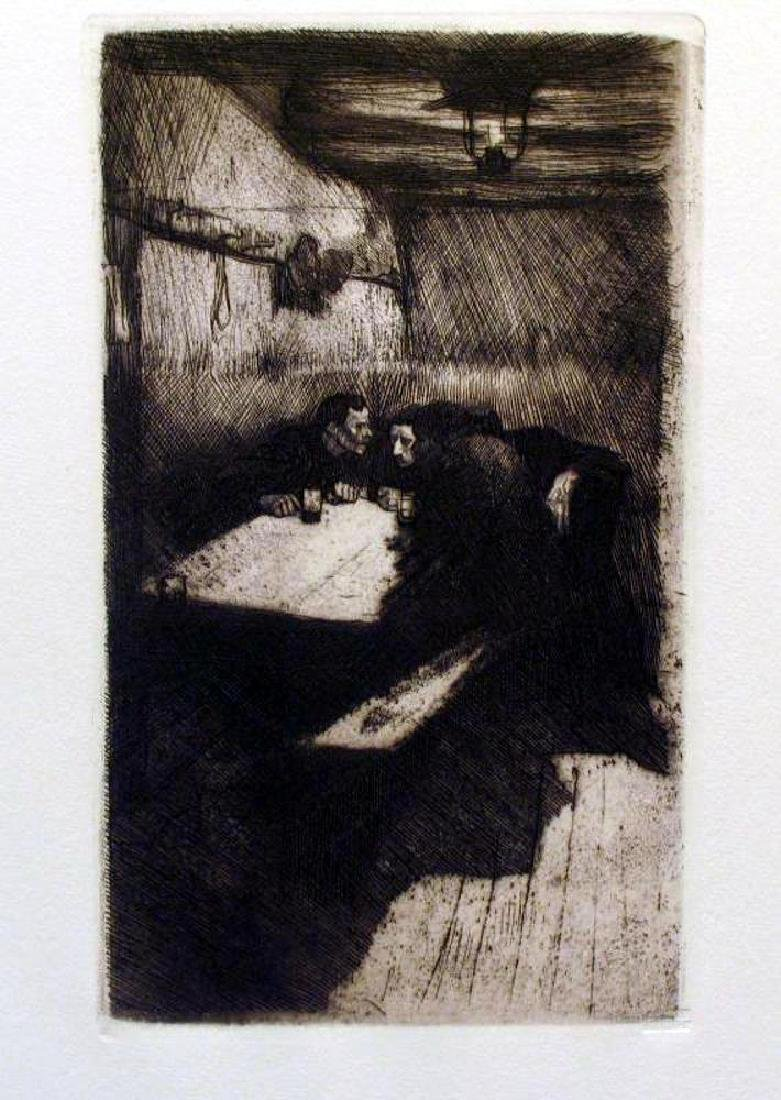 Fantastic Etching Kathe Kollwitz Etching on Paper - 2