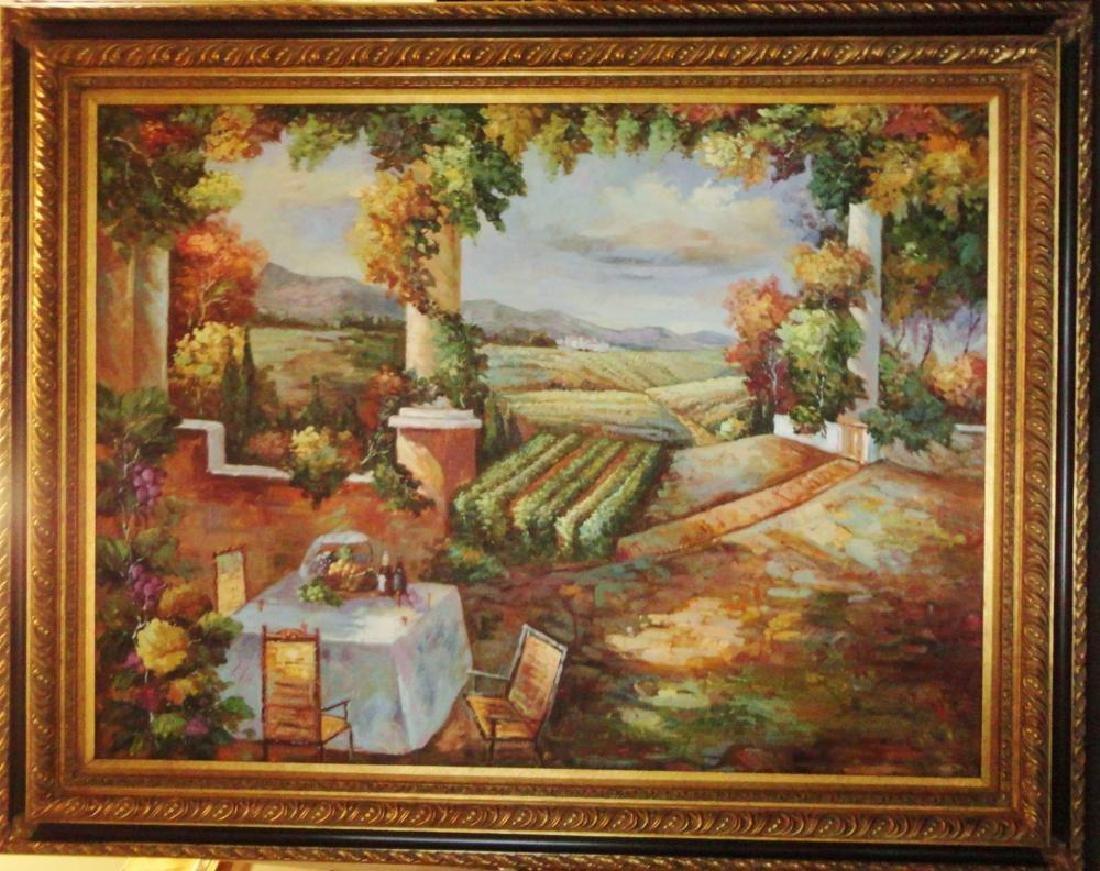 Fantastic Original Canvas Tuscan Vineyard Winery Scenic
