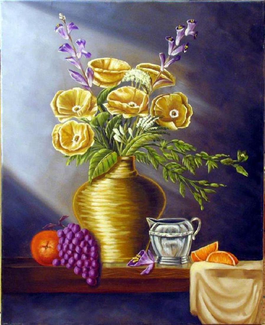 Vase Realistic Painting on Canvas Fantastic Bob - 2