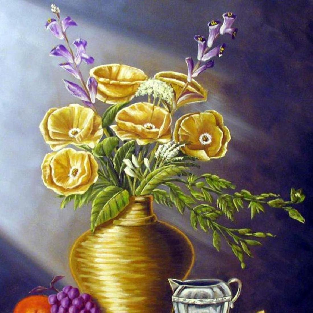 Vase Realistic Painting on Canvas Fantastic Bob - 3