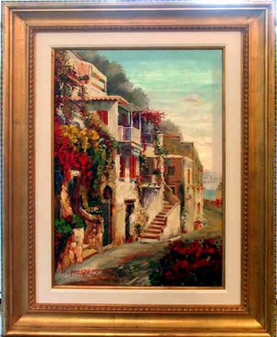 Europe St Scene Landscape Impressionism FRAMED Sign
