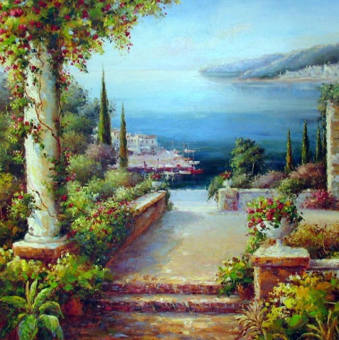 Landscape Scenic Ocean Floral Museum Framed DEALER - 2
