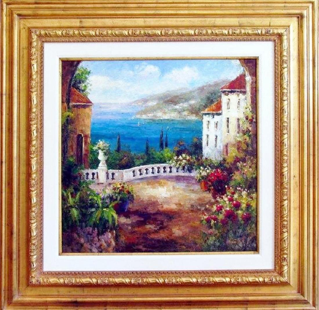 Textured Italian Original Painting Colorful Landscape
