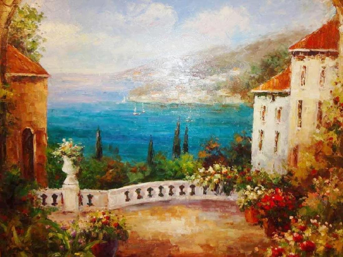 Textured Italian Original Painting Colorful Landscape - 2