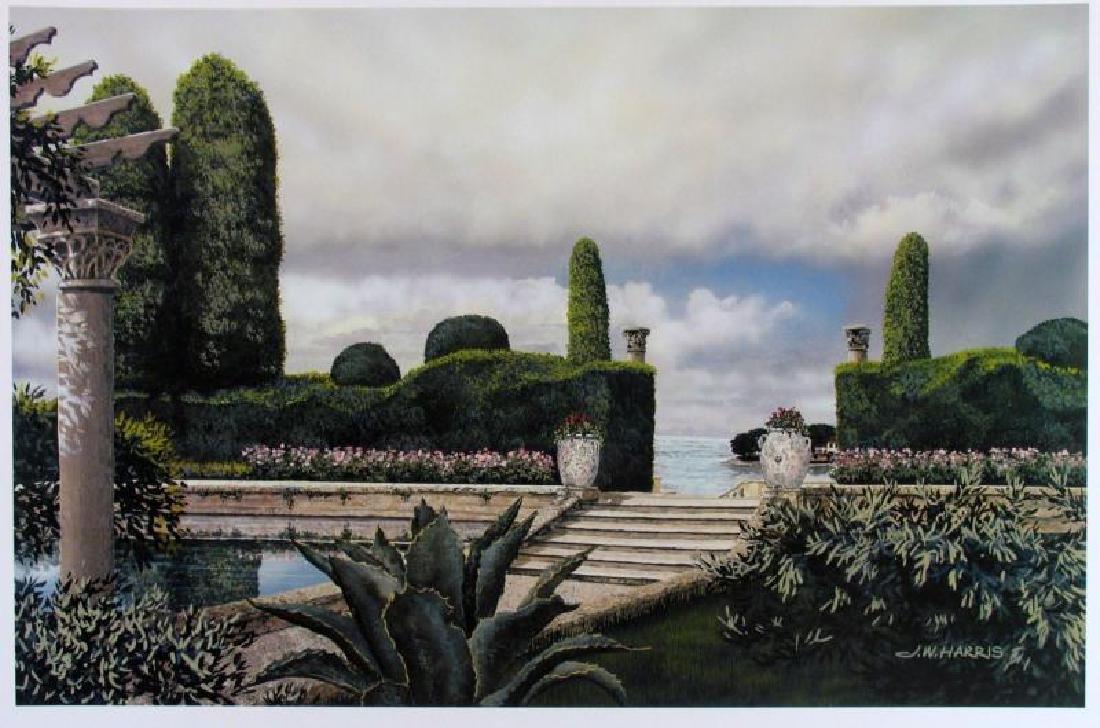 Print James Harris Stairway Landscape Realistic