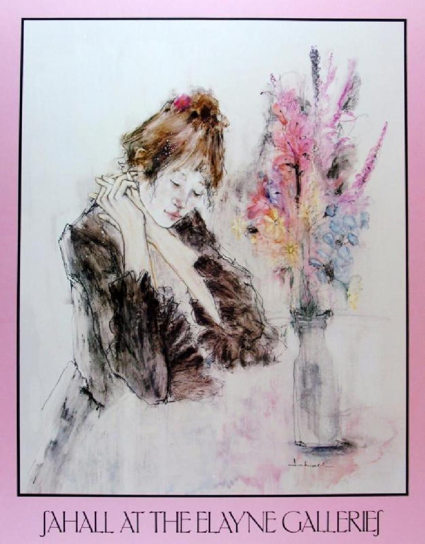 Sahall Girl with Flowers Print