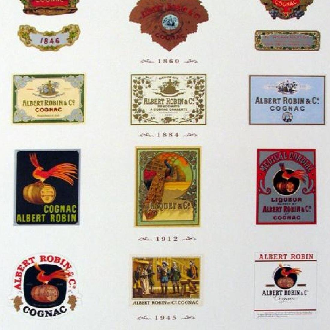 Cool Robert Albert Cognac Labels Art Print