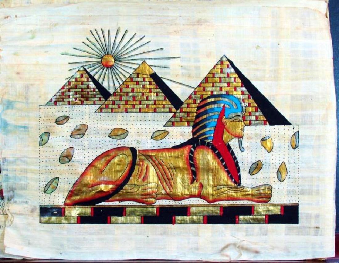 Original Egyptian Art Papyrus Painting Liquidation Sale