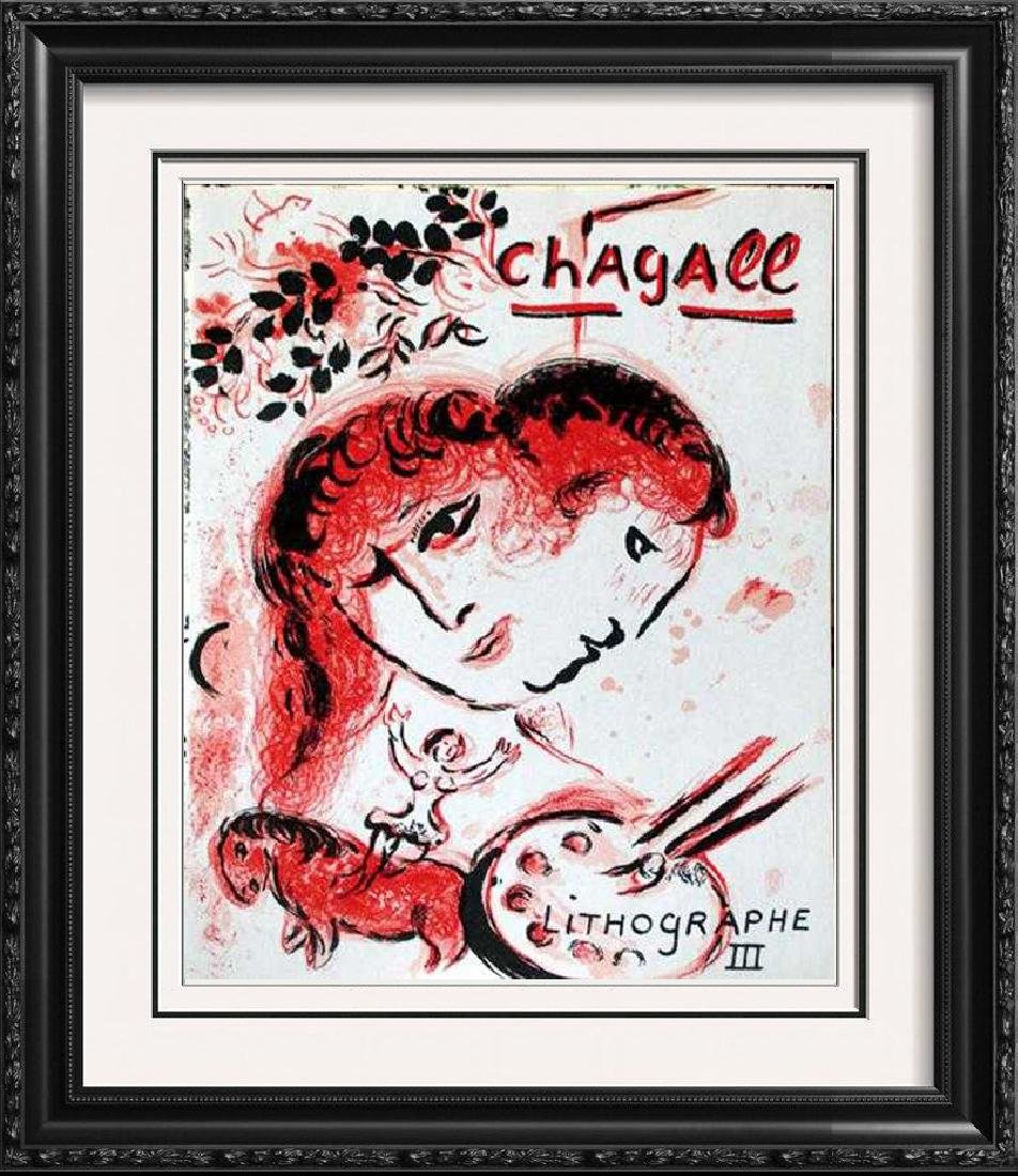"Marc Chagall ""After"" Original Color Lithograph"